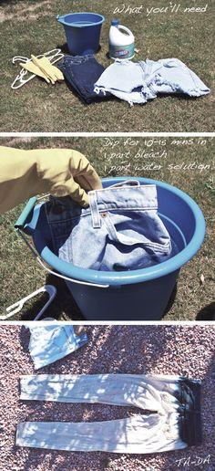 #dye dipped #bleached #summer #denim #cutoffs #shorts  want to do this.