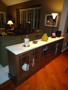 Reston Kitchen Renovation to Die For...Well, Live For...    Replace half wall with cabinets