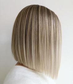 Short Hairstyle Angled Bob Cut - Short hairstyle with the straight angled look. Don't forget your Voluflex hairbrush for healthy style. Made in USA! Blonde Hair Looks, Brown Blonde Hair, Black Hair, Medium Hair Styles, Short Hair Styles, Asymmetrical Bob Haircuts, Wavy Bob Hairstyles, Hairstyle Short, Braided Hairstyles