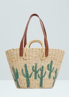 Straw bag   MANGO