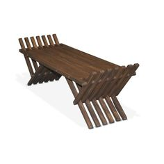 The GloDea Xquare French Wooden Backless Garden Bench was thoughtfully conceptualized by the Brazilian designer Ignacio Santos and created by the. Garden Furniture, Wood Furniture, Outdoor Furniture, Outdoor Decor, Outdoor Benches, Smart Furniture, Indoor Outdoor, French Bench, Modern Bench