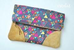 Washi Fold Over Clutch by LRstitched, via Flickr