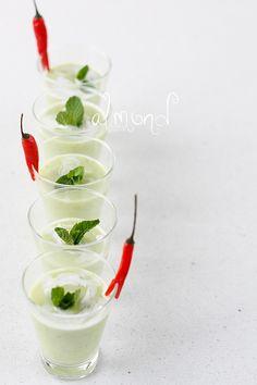 Almond Corner: Avocado soup shots