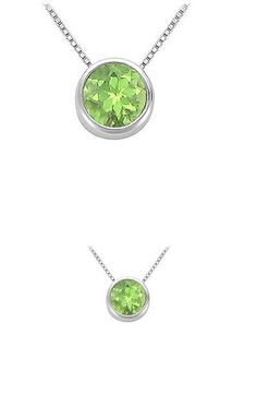 Other Ethnic Regional Jewelry 288: Peridot Bezel Set Solitaire Pendant 925 Sterling Silver 1.00 Ct Tgw BUY IT NOW ONLY: $72.19