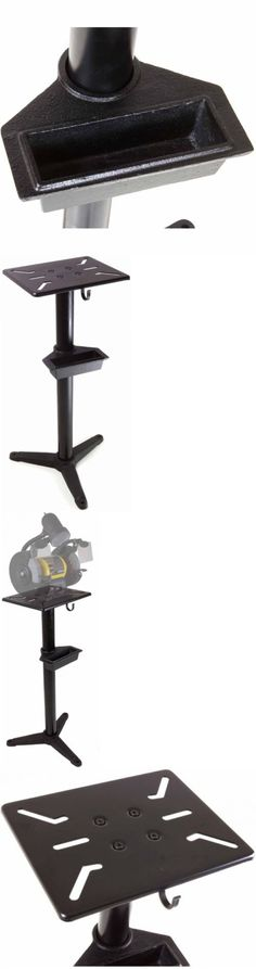 WEN Cast Iron Bench Grinder Pedestal Stand w/ Water Pot Tray Floor Mount Table Power Grinders Power Tools