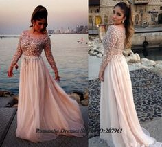 Find More Evening Dresses Information about 2015 Elie Saab Sexy Long Sleeves Chiffon Beach Formal Evening Dresses with Crystal beads Sequins Beaded Prom Pageant Gowns,High Quality chiffon abaya,China chiffon hijab Suppliers, Cheap dresses quinceanera from Romantic bride wedding dress Suzhou Co., Ltd. on Aliexpress.com