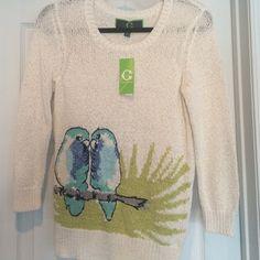 Nwt C. wonder bird sweater XXS XS New with tags cream colored bird sweater size XXS fits XS 00 0 2. NO TRADES Lilly Pulitzer Sweaters