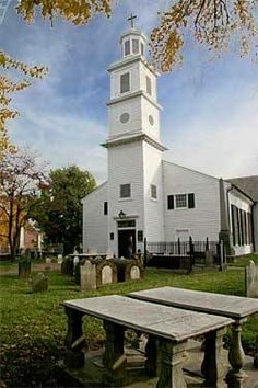 """St. John's Church in Richmond, VA.  Patrick Henry gave his """"Give Me Liberty Or Give Me Death"""" speech here.  The scene is recreated every Sunday during the summer."""