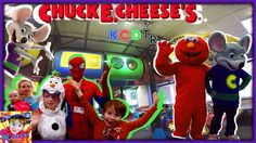 Spider-Man, Frozen Elsa, Baby Anna, and Olaf Go to Chuck E Cheeses for C...