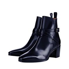 XYD Women Ankle Boots Casual Brown Faux Leather Shoes Black Heels Size 4 Dark Blue - Brought to you by Avarsha.com
