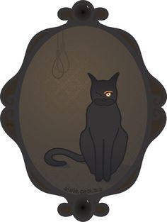'el gato me seguía por la pendiente de la escalera, y, en ese momento, me exasperó hasta la demencia.': °el gato[jo] negro° de la serie la mirada poe, #lamiradadelasemana no 1