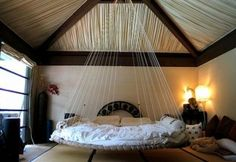 Wouldn't this be the most awesome bed to sleep in while it is raining.