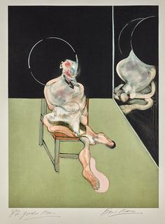 Seated Figure (Sabatier 5), 1983, by Francis Bacon