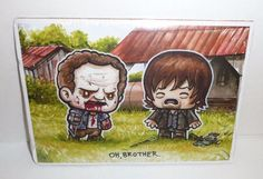 """Cute The Walking Dead Picture - Daryl and Merle Dixon """"Oh, Brother"""" Comic Art"""