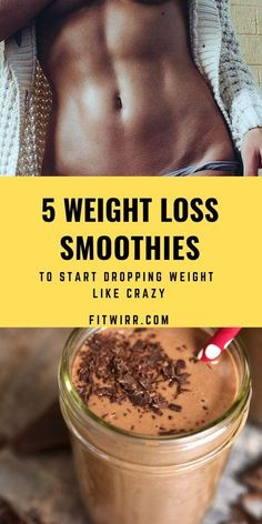 5 really delicious smoothies that promote weight loss and help you start losing weight. #smoothierecipes #weightlosssmoothies #smoothierecipes #loseweightfast #weightlossdrinks #fitwir