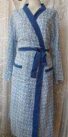 Hand block-printed cotton kimono dressing gown