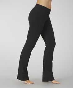 Loving this Black Dry Wik Yoga Pants on #zulily! #zulilyfinds