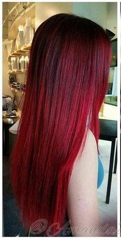 Pin by Frisur İdean on Frisur in 2019 Pin by Frisur İdean on Frisur in 2019 Red Ombre Hair, Dyed Red Hair, Burgundy Hair, Bold Hair Color, Hair Dye Colors, Cheveux Oranges, Pinterest Hair, Pretty Hairstyles, Hair Looks