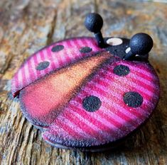 Lady Bug, polymer clay project from my new tutorial