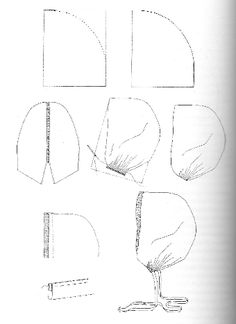 How to make basic linen Coif(In finnish but the only one that shows the diagram. I have other ones in english that explain the process