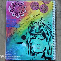 Dream Girl Art Journal Page for The Crafter's Workshop Art Journal Pages, Art Journals, Creative Journal, Mixed Media Art, Art Girl, Art Projects, Stencils, Workshop, Doodles