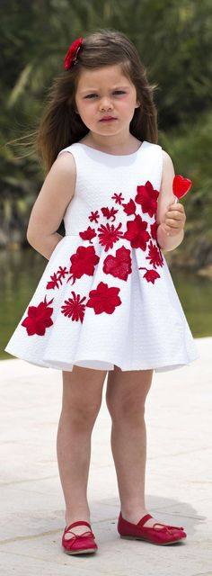Kids Floral Skater Dress Streetstyle by 1sillaparamibolso