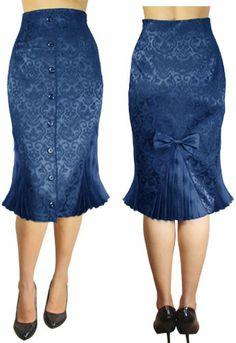 Rockabilly Jacquard Skirt