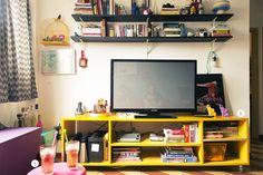 Living Room  Carol Castro e Willian - Casa Aberta