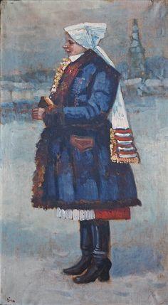 Josef Bino: Žena z Horňácka (Woman from Horňácko), počátek 20. století