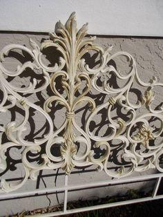 Decorative Vintage Hollywood Regency Iron Headboard Reserved