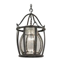 Pendant Light with Mercury Glass in Chianti Bronze Finish | F3596 | Destination Lighting