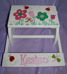 Children's Flip Step Stool Bench  Spring by confettigiftsbyg, $48.00