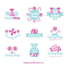 Discover thousands of copyright-free vectors. Graphic resources for personal and commercial use. Thousands of new files uploaded daily. Pen Pal Letters, Monogram Letters, Candy Background, Logo Pen, Sweet Logo, Candy Logo, Colorful Frames, Bullet Journal Themes, Colorful Candy