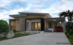 บ้านโมเดิร์น 12 หลังไซส์มินิ น่ารักน่าอยู่เวอร์ Garage Doors, Mansions, House Styles, Outdoor Decor, Home Decor, Decoration Home, Room Decor, Fancy Houses, Carriage Doors
