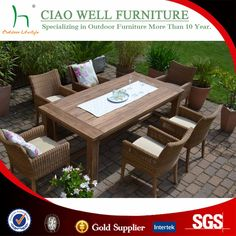 2016 nuevo diseño de mesa de madera de teca de birmania conjunto de muebles al por mayor de china