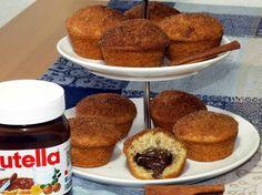 Nutella-Muffins mit knuspriger Zimt-Haube