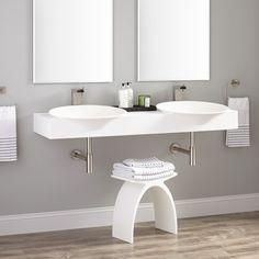 Bathroom Furniture, Fixtures and Decor Wall Mounted Bathroom Sinks, Basin Sink, Master Bath, Bathtub, Hardware, Resin, Mirror, House, Furniture