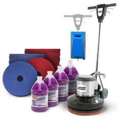 Commercial Floor Buffer Cleaning Package - The perfect commercial floor scrubbing package is great for the novice and professional alike.