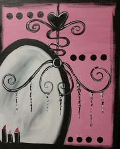 """""""Mirror, Mirror"""" 2 hr painting now avaliable for painting parties!"""