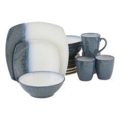 Sango Metallics Blue 16-pc. Dinnerware Set
