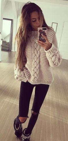 women's white sweater - www. Cozy Winter Outfits, Fall Outfits, Sweater Coats, Sweater Outfits, Sweater Cardigan, Vest Coat, Knitting Patterns Free, Free Knitting, Free Pattern