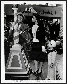 William Powell, Myrna Loy and Dickie Hall in Shadow of the Thin Man