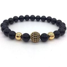 GLOBALIST - Lava Stone Beaded Bracelet - Various Colors