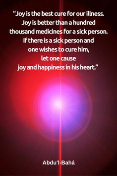 'Abdu'l-Baha on joy.