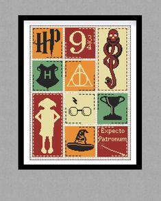 BUY 2 GET 1 FREE. Harry Potter Cross stitch pattern. (#P- 0133). Harry Potter modern cross stitch. Counted Cross Stitch Pattern.  par GlazovPattern sur Etsy https://www.etsy.com/fr/listing/287347565/buy-2-get-1-free-harry-potter-cross