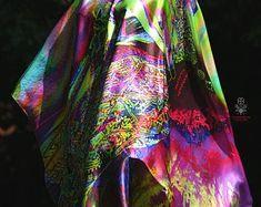 Tie Dye Skirt, Kimono Top, Etsy Seller, Silk, Unique, Women, Fashion, Moda, Women's