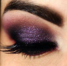 Brown & purple sparkles