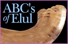 ABC's of Elul  Elul – the month preceding Rosh Hashanah – begins a period of intensive introspection, of clarifying life's goals, and of coming closer to God. It is a time for realizing purpose in life – rather than perfunctorily going through the motions of living by amassing money and seeking gratification. It is a time when we step back and look at ourselves critically and honestly, as Jews have from time immemorial, with the intention of improving.