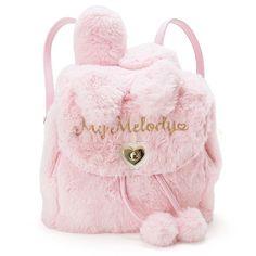Girly Backpacks, Cute Mini Backpacks, Little Backpacks, Hello Kitty My Melody, Hello Kitty Bag, Kawaii Bags, Kawaii Clothes, Fur Backpack, Fashion Backpack