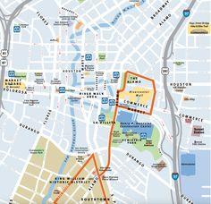 Downtown San Antonio. Get your bearings!